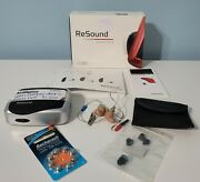 Resound Linx2 62 Hearing Aids Complete With Case Box Extra Batteries Untested