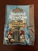 Disney Pin 60336 Featured Attraction Collection Tower Of Terror Mickey Minnie Le
