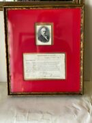 James Buchanan President Signed Document As Secretary Of State 1846 Autographed