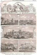 18 Prints.asylum.medical.institution.mentally Ill.workhouse.infirmary.antique