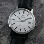 Omega Geneva Original Silver Dial Automatic Winding Vintage Watch 1972s