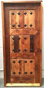 Rustic Reclaimed Lumber Square Door Solid Wood Story Book Winery Castle Church