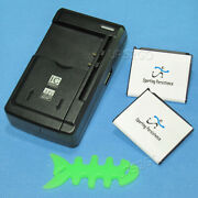 2x 1380mah Battery+universal Charger+winder Silicon For Samsung Solstice A887 Us