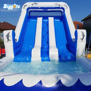 Outdoor Durable Pvc Material Commercial Inflatable Water Slide Pool For Kids Pla