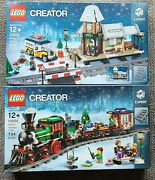 Lego - Winter Holiday Train 10254 And Winter Village Station 10259 - Brand New