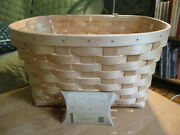 Longaberger 2016 Natural Woven Weave Bicycle Basket W Protector And Flyer Tie On