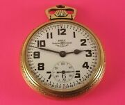 Vintage Ball-hamilton 999b Pocket Watch 21 Jewels 16 Size S/n 1b2323 Ca.1946