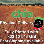 Chia K32 Plot Plotting As A Service Xch - Physical Delivery Seagate 16tb Sata