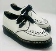 Mens Dr. Martens Sidney Quad Creepers Leather Oxfords White New