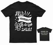 Fill Yourself With Spirit Drinking Drinker T-shirt Party Pub Bar
