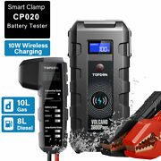 Auto 2000amp Jump Starter Car Battery Tester Booster Wireless Charger Power Bank