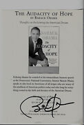 Barack Obama Signed Autographed Full Page Book Flyer Coa
