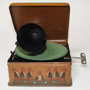 Bing Pigmyphone Tin Toy Phonograph Gramophone Grammophon Including Toy Records .