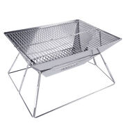Portable Bbq Barbecue Grill Stainless Steel Folding Outdoor Camping Cooker