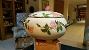 Rare Franciscan Desert Rose Footed Tureen Excellent Condition Usa