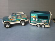 Nylint Lone Horse Stables Truck And Trailer Chevy Tahoe Steel Plastic 1996 Euc
