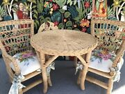 American Girl Pleasant Company Samantha Collection Wicker Doll Table Chair Set