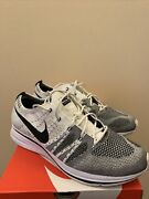 Nike Flyknit Trainer White Black Kanye Size 11.5 Pre Owned Ah8396100