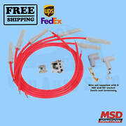 Spark Plug Wire Set Msd For Ford 1961-1965 Falcon Sedan Delivery