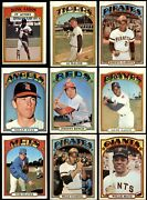 1972 Topps Baseball Low Number Complete Set 5 - Ex