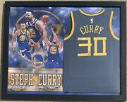 Jsa Gs Warriors Stephen Curry Signed Autographed Framed Nike Jersey Mvp Auto