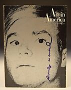 Andy Warhol - Art In America Magazine Hand Signed Self Portrait/cover