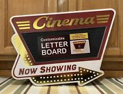 Cinema Theater Now Showing Letter Board Movie Reels Home Wall Decor Film Dvd