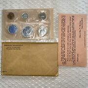 1960 P Proof Set Silver Nice Condition - 5 Coins With Coa And Envelope