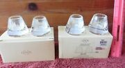 2 Pairs Lenox Candle Holders Jeweled Ice Votive Crystal Wedding Day Home Decor