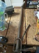 Vintage Wood Handle Tire Pump Height With Handle 29 1/2andrdquo