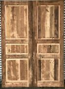 Rustic Reclaimed Lumber Double Plank Style You Choose Size Barn Doors Farmhouse