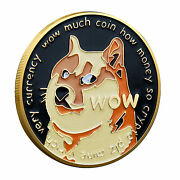 Dogecoin Coins Commemorative New Collectors Gold Plated Doge Coin 2021 Usa Stock