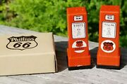 Vintage Phillips 66 Miniature Gas Pump Salt And Pepper Shakers Oklahoma And Box