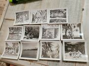 Vintage Lot Of Wwii 11 Photographs Of People Places Soldiers Original Not Copy