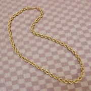 Large 10k Yellow Gold 7mm Rope Chain 22 Necklace 32.2 Grams New Old Stock