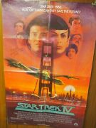 Star Trek Iv The Voyage Home George Takei Autographed One Sheet Poster 27x40