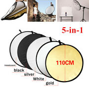43/110cm 5-in-1 Photography Studio Multi-disc Collapsible Light Reflector W/bag