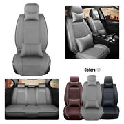 Universal Pu Leather 5-seats Car Seat Cover Full Set Front Rear Cushion Interior