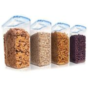 5xcereal Storage Container Set Plastic Airtight Food Storage Containers Snacks