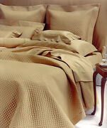 Cotti Maryanne Sibilla Quilted King Coverlet With Rope Appliqué Color Curry