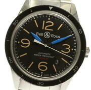 Bell And Ross Sports Heritage Date Br123-92 Self-winding Menand039s Black Watch W/box