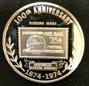 1974 United States Postal Service 1 Oz Silver Round Foreign Mails