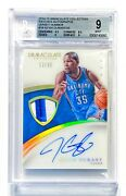 2014-15 Panini Immaculate Kevin Durant 12/35 Jersey Number Patch Auto Bgs 9