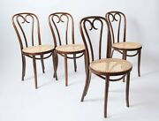 4 Thonet Bentwood Chairs Vintage Zpm Radomsko Poland Caned Dining Chairs Set