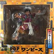 Used Megahouse Portrait.of.pirates One Piece Kabuki Edition Monky D Luffy Figure