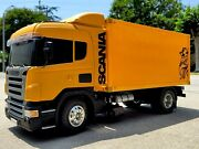 Custom Tamiya R/c 1/14 Scania Convert To Delivery Semi Truck + Mfc-03 Led Andsound