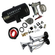 Loud Triple Trumpet Air Horn Kit With 98c 1 Gallon Best Buy Fit For Car Truck Rv