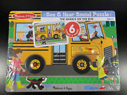 Melissa And Doug The Wheels On The Bus Sound Puzzle 739 0739