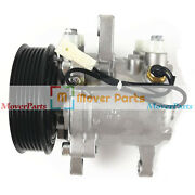 A/c Compressor 447280-3080 For Kubota M126 M135 M6 Tractor With 6 Groove Pulley
