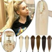 15-30 Claw Clip Insilk Straight Remy Human Hair Ponytail Thick Hair Extension